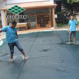Quadratisches Swimmingpool-Plastikineinander greifen/steifes Polyester-Plastikineinander greifen-Netzstoff, Schwimmen-Ineinander greifen-Pool-Deckel für Haustiere und Kinder