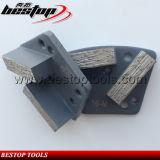 De dubbele Staaf segmenteert de Malende Blokken van de Diamant voor Concrete Vloer