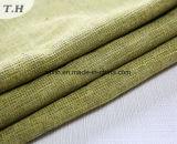 Diseño de lino verde de la tela para el sofá y la silla