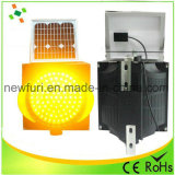 Solar de 300 mm de color amarillo ámbar intermitente LED
