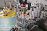 기름 병을%s 정면과 뒤 레테르를 붙이는 기계