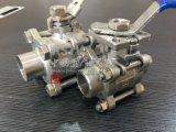 스테인리스 Bw 개머리판쇠 용접 높은 플래트홈 수동 3PC 공 벨브