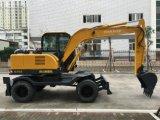 6.0Ton, 0.25cbm Excavadora de ruedas pequeñas para la venta