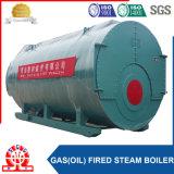 5.6MW fasten abgefeuerte Heißwasser-industrielle Dampfkessel des Anlieferungs-Gas-(Öl)