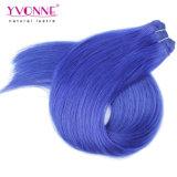 Blauwe Haar van de Kleur van Yvonne het Peruvian Remy Hair Extension Natuurlijke Rechte