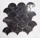 Unregelmäßige Shap dunkle Emperador Mosaik-Fisch-Schuppe/Diamant-Mosaik-Fliese für Fußboden