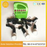 A energia verde 15W do Sistema de Iluminação Solar Portátil com leitor de MP3 e rádio FM