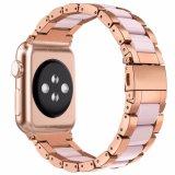Apple Iwatchの鋼鉄樹脂バンドのためのPink+Roseの金時計ストラップ