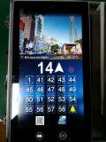 15.6 Étalage d'ascenseur d'affichage à cristaux liquides de contact pour Otis avec 4G, WiFi et fil
