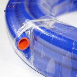 Vapeur de silicium tressé bleu de tissu/boyau en caoutchouc de chaufferette