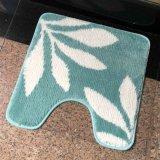 Jeu acrylique de luxe de tapis de couvertures de tapis de bain d'hôtel de coton de Microfiber, avec l'essuie-main de Bath de rideau en douche