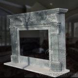Camino di marmo naturale di disegno classico intagliato mano di colore verde di Geart Qauality