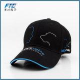 Casquillo de golf del sombrero de béisbol de la insignia del bordado del OEM 3D