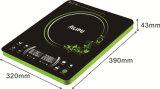 Alipu 2015 1 certificato dei CB del bruciatore 2000 Portable di watt salvo il fornello di induzione elettrica di controllo della trasparenza di energia (SM-DC221)