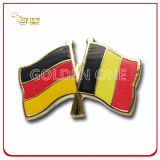 Customized Gold Plated Soft Enamel Cross Flag Metal Lapel Pin
