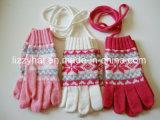 Guanti delle lane dei bambini lavorati a maglia jacquard caldo di modo dei guanti