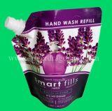 Poche comique faite sur commande de bec pour l'emballage liquide de lavage de main