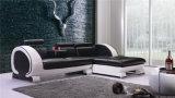 木フレームの現代家具の革ソファー