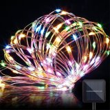 Lámpara solar Decorat del día de fiesta LED de la luz de la cadena del alambre de cobre de las luces