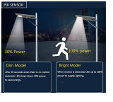 80W Novo Design Rua Solar LED de luz da lâmpada de rua com movimento Senser