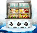 Anti-Fog 기능을%s 가진 상업적인 전시 케이크 냉장고 진열장