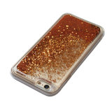 De Vloeistof TPU schittert Bruine Geval van de Telefoon van het Drijfzand het Mobiele -