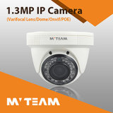 Dome School Hotel Câmera CCTV Varifocal Lens Infrared IP Camera 1024p 1.3MP com CE FCC RoHS