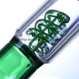 Una figura a spirale di 14 pollici che fuma il tubo di acqua di vetro del narghilé di Shisha