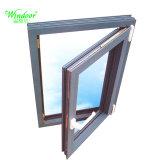 Volet unique en verre dépoli bardage aluminium porte en bois