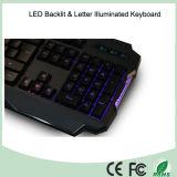 아BS 물자 광도 조정 LED에 의하여 조명되는 도박 키보드 (KB-1901EL-LB)