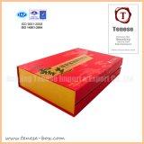 음식을%s 빨간 호화스러운 마분지 선물 포장 상자