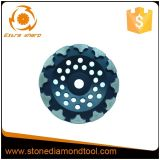 Meule de diamant de Cuvette-Forme avec des segments de forme de T
