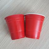 [10وز] [285مل] مستهلكة [بّ] يحتفل أحمر بلاستيكيّة منفردا فنجان