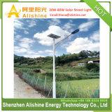 Tipo cindido 20W integrado de LED do painel solar Powered luzes da rua