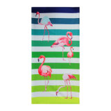 75X150cm großes gedrucktes Flamingo Microfiber Badetuch