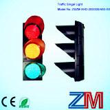 빨강 & 호박색 & 녹색 LED 번쩍이는 신호등/교통 신호