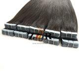 Color oscuro llamado doble cinta de pelo de Mongolia en Hair Extension