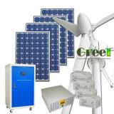 10kw sistema híbrido Solar do vento para casa e uso agrícola, 220V/380VCA 50Hz Monofásico/Fase 3
