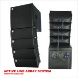 Sistema de som de matriz de linha de alto-falante sem fio + gabinete