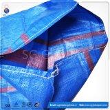 Venda por grosso de PP 50kg saco de tecido para embalagem de alimentação de grãos de arroz