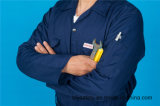 Vêtements de travail bon marché de combinaison de longue sûreté de chemise du polyester 35%Cotton de 65% (BLY1025)
