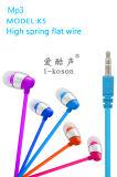 平らな高品質のヘッドセットの耳の工場価格エムピー・スリーの携帯電話のイヤホーン