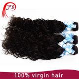 Extensões naturais Mongolian populares do cabelo da onda de Remy