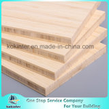 madera contrachapada de bambú natural del bambú del panel de la tarjeta de bambú de la vertical de 20m m