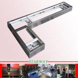 Peças personalizadas da fabricação de metal da folha para o cerco revestido pó do computador e a indicação digital de vidro (estaca do laser/dobra)