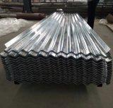 Chapa de aço galvanizada corrugada material de construção Dx51d de telhas de telhado