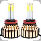 La linterna de oro más nueva de la MAZORCA LED de las caras 100W 4 con la luz de puerta de la recepción del coche del LED de la fábrica y de las piezas de automóvil LED (H4 H7 H11 9006 H1 H3 H13 9012)