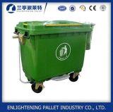 Liberare la pattumiera di plastica mobile riciclata stampata con il pedale industriale