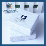 Caja de papel ropa brillante blanco (CMG-PJB-016)