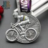 Марафон легирующего металла цинка эмали заливки формы мягкий медали Medalla